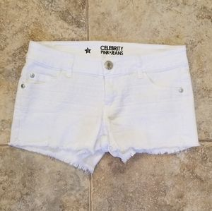 Celebrity Pink Good Condition White Jean Shorts